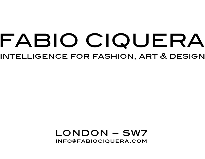 FABIO CIQUERA - INTELLEGENCE FOR FASHION, ART AND DESIGN